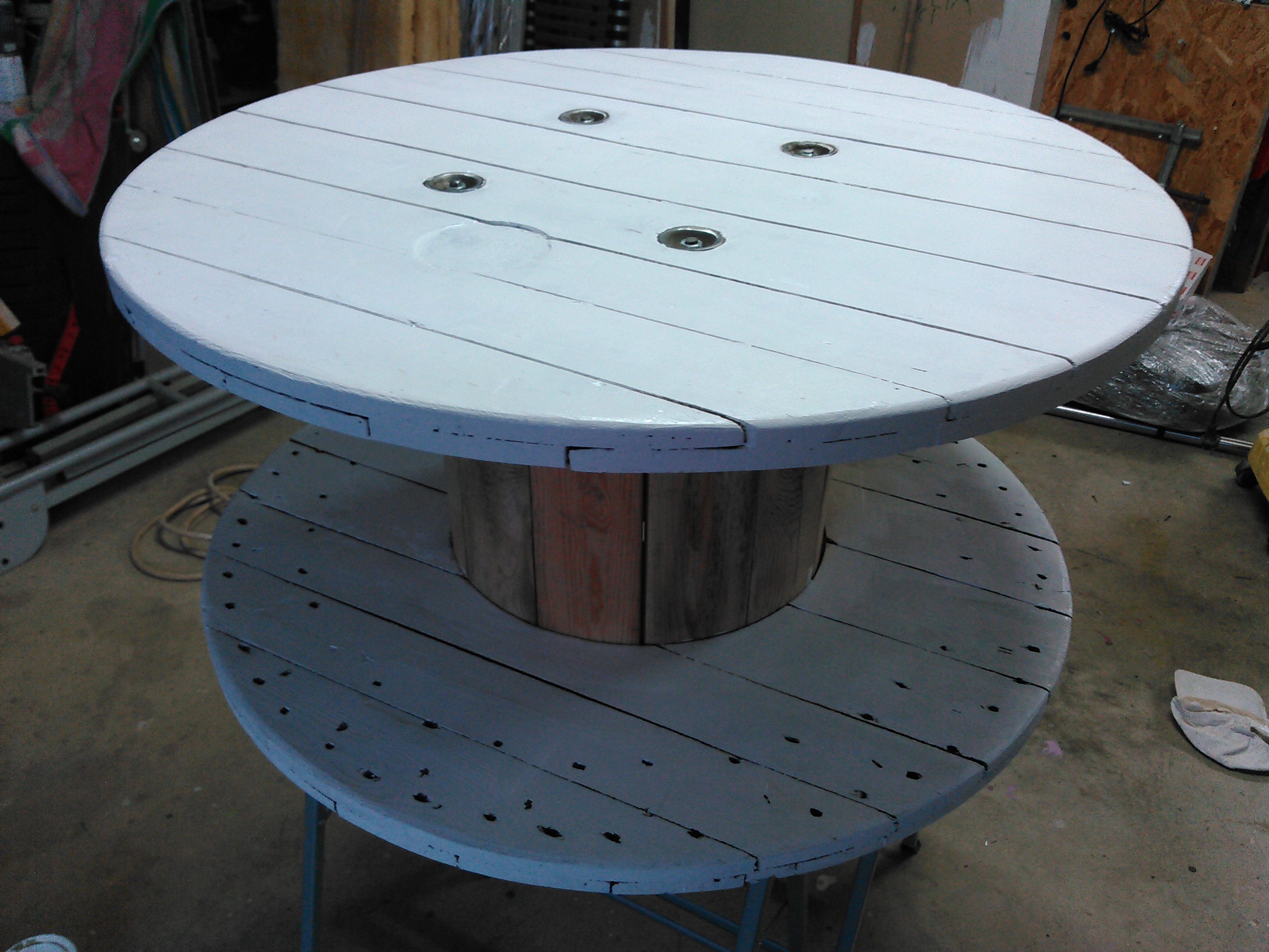 Table basse touret sebricole - Comment faire une table en bois ...